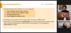 Das Forum Deutsche Sprache auf dem Forum Wissenschaftskommunikation 2021
